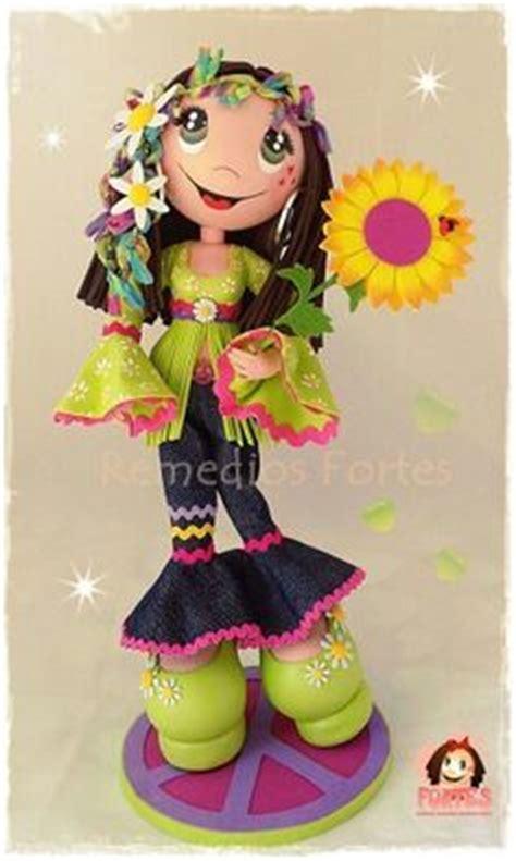 Fofucha mini niña Primera Comunión fajin gris/Fofucha doll