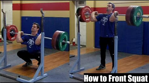 how to front squat proper technique for size strength
