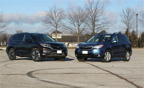 Crv Vs Subaru Forester by 2015 Honda Cr V Vs 2015 Subaru Forester Autoguide