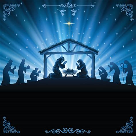 national tree company 72 nativity scene with clear lights nativity scene clip art vector images illustrations