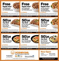 82002 Farmers Buffet Coupons by Yoshinoya Coupons Great Deals For Asian Grilled Chicken