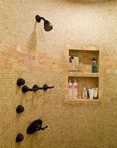 Built, In, Shower, Shelves, U2013, Homesfeed