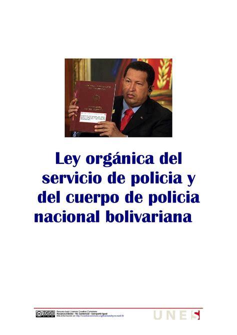ley organica de la policia nacional ley organica de la policia nacional ley organica de la