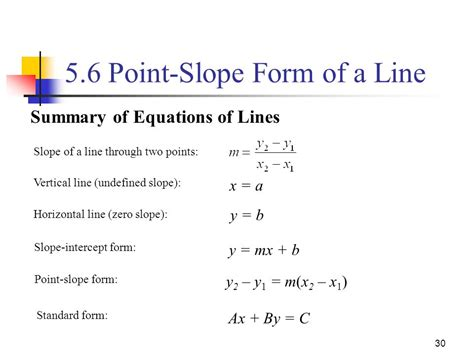 5 1 equations of lines equations of the form ax by c are called linear equations in two