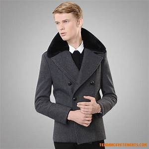 Manteau Homme Avec Fourrure : manteau homme gris fonc parka col fourrure slim pas cher ~ Melissatoandfro.com Idées de Décoration