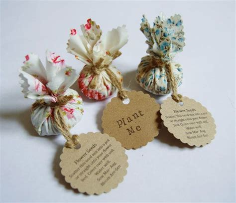set   country garden flower seed wedding favours