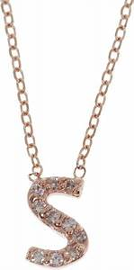 kc designs rose gold diamond letter s necklace in pink With letter k necklace rose gold