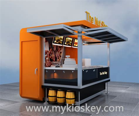 Custom Outdoor Kiosk Fast Food Nuts Kiosk For Sale