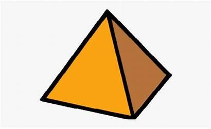 Pyramid Triangle Clipart Object Shaped Shape Yellow