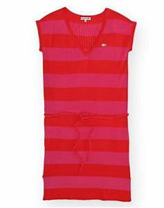 robe lacoste rouge rose rayures graine de sportive With robe lacoste rouge
