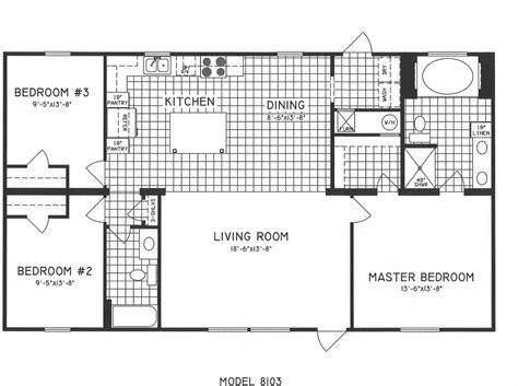 3 bedroom floor plan 3 bedroom floor plan c 8103 hawks homes manufactured