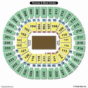 Unlv Rebels Basketball Seating Chart Thomas Mack Center Seating Chart Seating Charts Tickets
