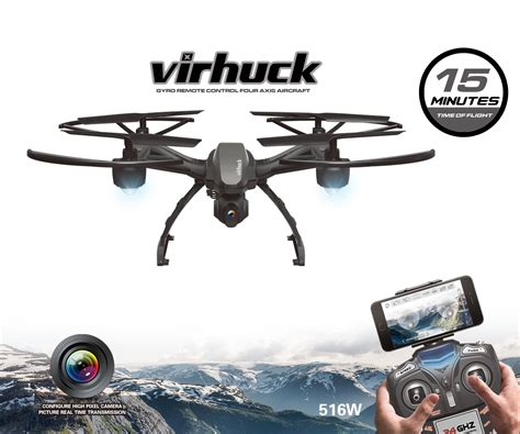 Virhuck Rc Quadcopter Drone With Hd Camera Wifi Fpv Rtf