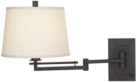 Easley Matte Bronze Plug In Swing Arm Wall Light Wall