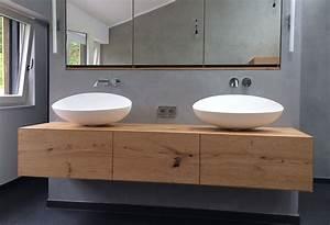 Waschtisch Für Bad : doppelwaschtisch mit unterschrank holz ~ Lizthompson.info Haus und Dekorationen
