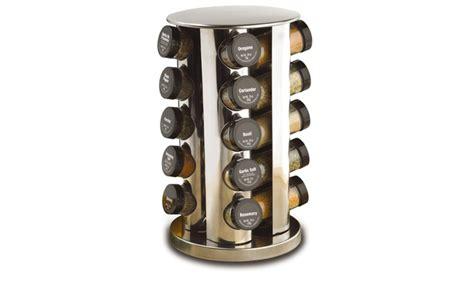 Kamenstein 20-jar Stainless Steel Revolving Spice Rack