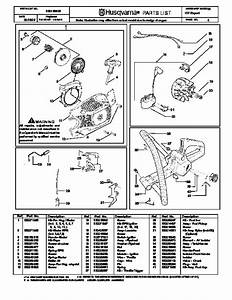 Husqvarna 137 Chainsaw Parts Manual  2001 2002 2003 2004