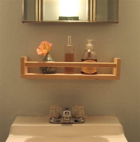 diy wooden bathroom shelves