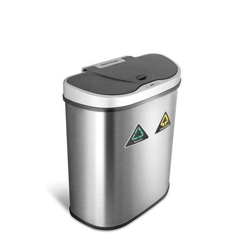 kitchen garbage  stainless steel dual recycle trash