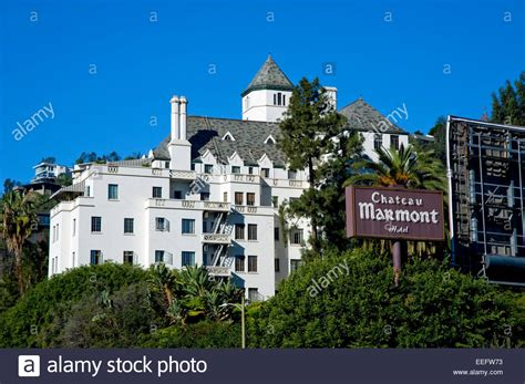Chateau Marmont Hotel On The Sunset Strip In Los Angeles