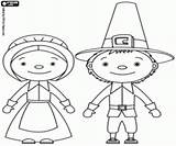 Pilgrims Husband Wife Coloring sketch template
