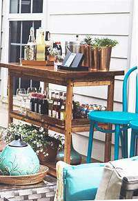 outdoor bar cart Home Depot Patio Makeover Reveal | In Honor Of Design
