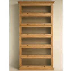 Furniture Oak Barrister Bookcase With Glass Doors 6