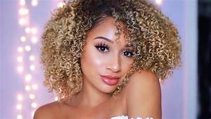 Drugstore Curly Hair Routine! Big & Fluffy Curls - YouTube