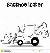 Loader Backhoe Cartoon Industry Vector sketch template