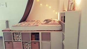 Kallax Regal Bett : ein hochbett aus ikea kallax regalen ~ Watch28wear.com Haus und Dekorationen