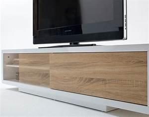 Meuble Bas Porte Coulissante : alinea meuble tv porte coulissante solutions pour la ~ Dailycaller-alerts.com Idées de Décoration