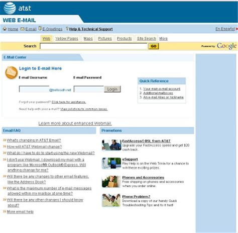 Login Bellsouth Email by Guideline For Bellsouth Webmail Login Or Sign In