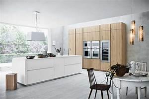 meuble moderne pour cuisine bois d39ambiance authentique With cuisine blanche et bois clair