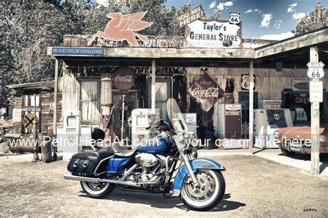 Old Skool Route 66 Garage Art From Your Car Or Bike Photo
