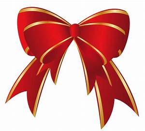 Christmas Red Ribbon Clipart