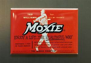 Moxie Ted Williams Refrigerator Fridge Magnet Cola Soda