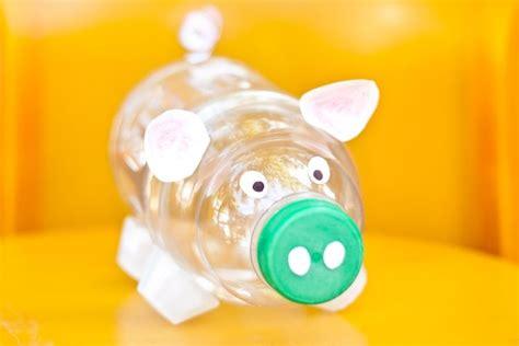 sparschwein selber basteln plastikflaschen basteln sparschwein sparen diy selber