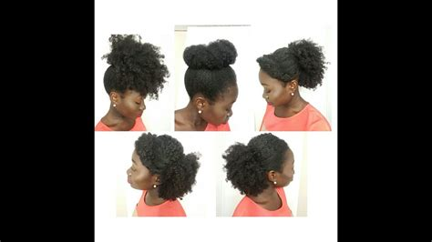 5 simple natural hairstyles on medium length youtube