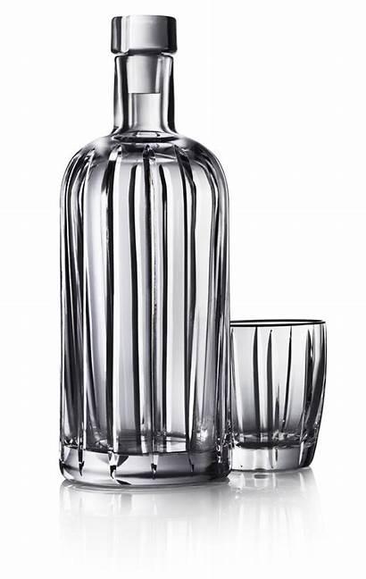 Vodka Absolut Crystal Bottle Pinstripe Glass Gambar