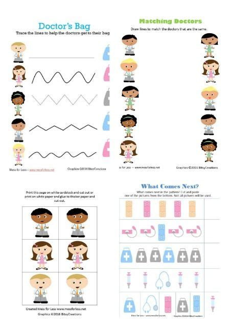 learning  healthcare   worksheets  kids
