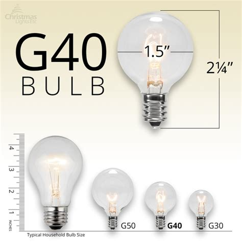 light g40 size comparrison patio lights commercial clear globe string lights 50 g40 e17 bulbs green wire