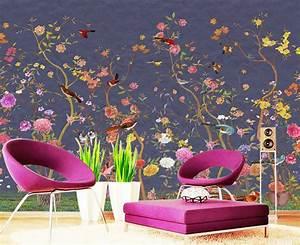 papier peint floral personnalise tapisserie numerique zen With chambre bébé design avec livraison fleurs doubs