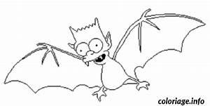 Dessin Halloween Vampire : coloriage bart simpson en vampire ~ Carolinahurricanesstore.com Idées de Décoration