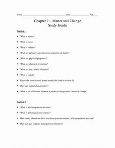 Chemistry - Chp 2 - Matter And Change