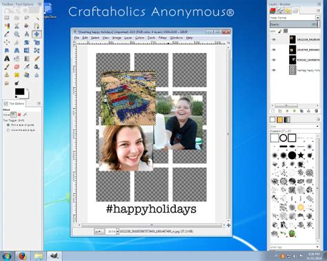 Craftaholics Anonymous®  Free Christmas Card Template