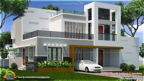 1500 square house plans contemporary storied small villa kerala home