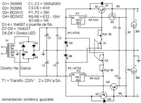 0 30v 5a adjustable symmetrical power supply power supply circuits