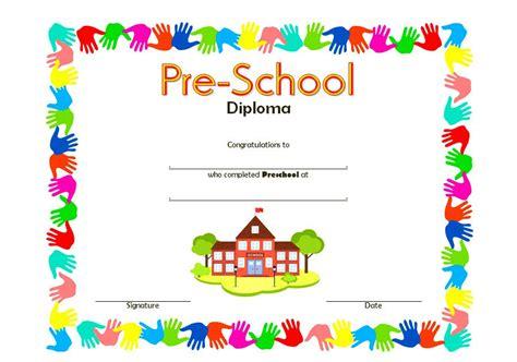 preschool diploma template preschool diploma certificate template 8 best 10 templates
