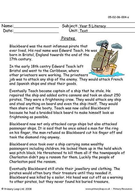 pirates worksheet pirate facts  kids fun facts
