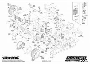 Exploded View  Traxxas Rustler 1 10 Vxl Tqi Bluetooth Ready Tsm R